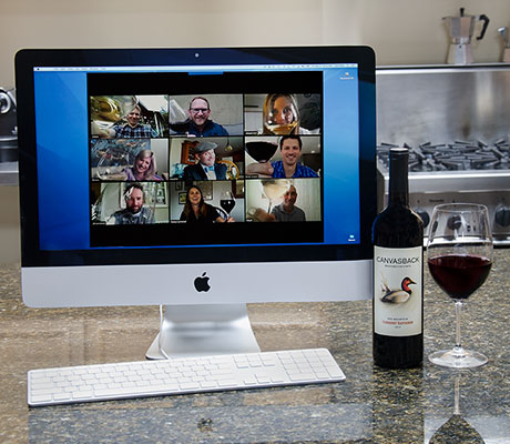 Virtual Wine tasting with canvasback