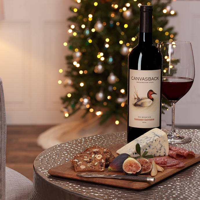 Canvasback Cabernet on a table for $5 shipping on all orders