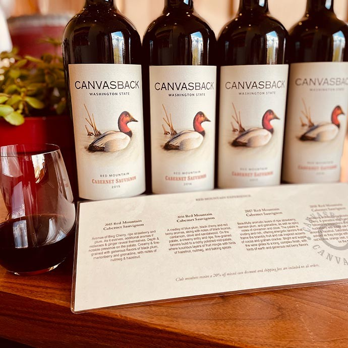 Canvasback Red Mountain Tasting