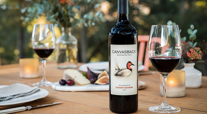 Canvasback Cabernet on a summer table